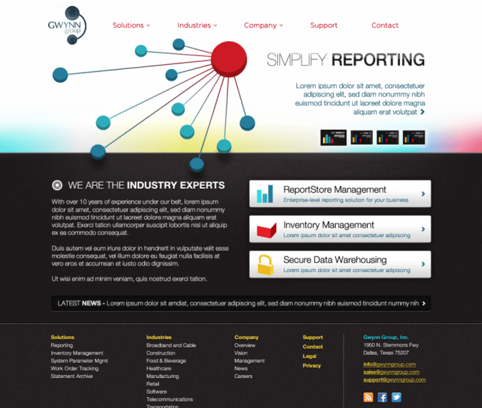 The Gwynn Group - Simplify Reporting - Custom Software Development