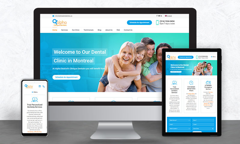 Alpha Dental Clinic - Powerful Multi-Language Website Solution