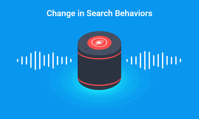 2. Change in search behaviors
