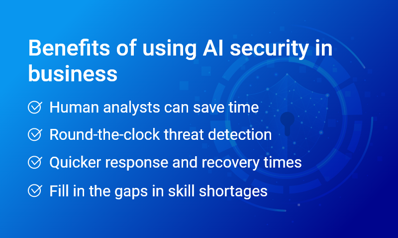 Benefits of using AI security in business