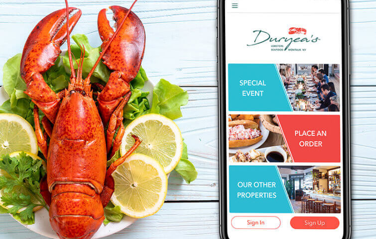 Duryea's restaurant - iOS and Android app for a fine-dining restaurant