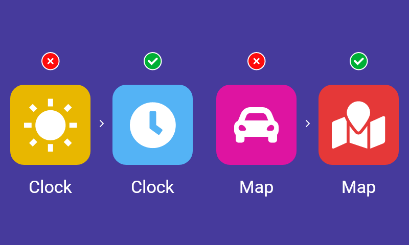 1. Confusing app icons